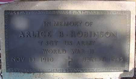 ROBINSON (VETERAN WWII KIA), ARLICE B (CENOTAPH) - Faulkner County, Arkansas | ARLICE B (CENOTAPH) ROBINSON (VETERAN WWII KIA) - Arkansas Gravestone Photos