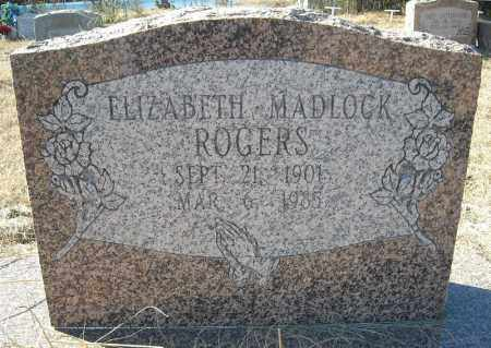 ROGERS, ELIZABETH - Faulkner County, Arkansas | ELIZABETH ROGERS - Arkansas Gravestone Photos