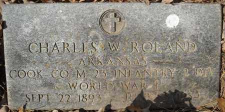 ROLAND (VETERAN WWI), CHARLES W - Faulkner County, Arkansas | CHARLES W ROLAND (VETERAN WWI) - Arkansas Gravestone Photos