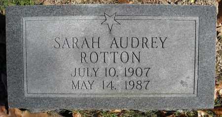ROTTON, SARAH AUDREY - Faulkner County, Arkansas | SARAH AUDREY ROTTON - Arkansas Gravestone Photos