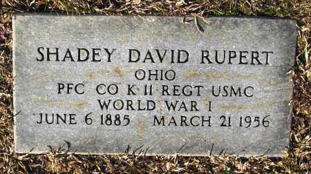 RUPERT  (VETERAN WWI), SHADEY DAVID - Faulkner County, Arkansas   SHADEY DAVID RUPERT  (VETERAN WWI) - Arkansas Gravestone Photos