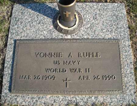 RUPLE (VETERAN WWII), VONNIE A - Faulkner County, Arkansas | VONNIE A RUPLE (VETERAN WWII) - Arkansas Gravestone Photos