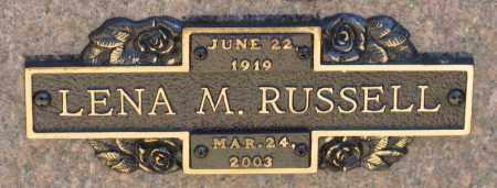 RUSSELL, LENA M. - Faulkner County, Arkansas | LENA M. RUSSELL - Arkansas Gravestone Photos