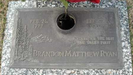 RYAN, BRANDON MATTHEW - Faulkner County, Arkansas | BRANDON MATTHEW RYAN - Arkansas Gravestone Photos