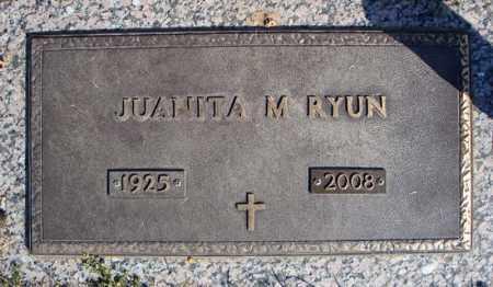 RYUN, JUANITA M. - Faulkner County, Arkansas | JUANITA M. RYUN - Arkansas Gravestone Photos