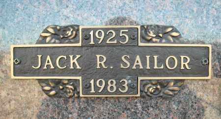 SAILOR, JACK R. - Faulkner County, Arkansas | JACK R. SAILOR - Arkansas Gravestone Photos