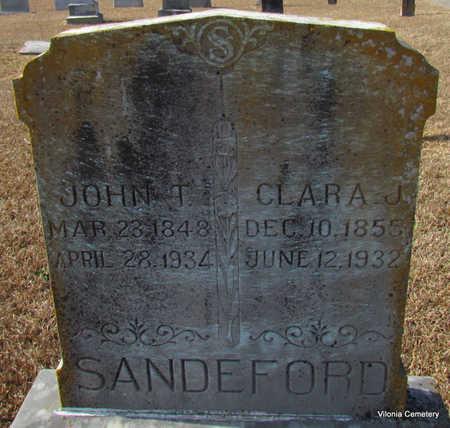 SANDEFORD, CLARA J. - Faulkner County, Arkansas | CLARA J. SANDEFORD - Arkansas Gravestone Photos