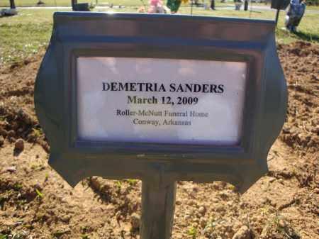 SANDERS, DEMETRIA - Faulkner County, Arkansas   DEMETRIA SANDERS - Arkansas Gravestone Photos
