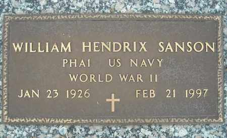 SANSON (VETERAN WWII), WILLIAM HENDRIX - Faulkner County, Arkansas   WILLIAM HENDRIX SANSON (VETERAN WWII) - Arkansas Gravestone Photos