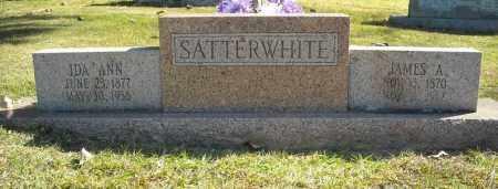 SATTERWHITE, IDA ANN - Faulkner County, Arkansas | IDA ANN SATTERWHITE - Arkansas Gravestone Photos