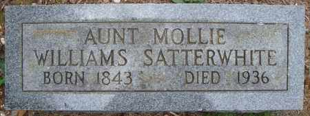 WILLIAMS SATTERWHITE, MOLLIE - Faulkner County, Arkansas | MOLLIE WILLIAMS SATTERWHITE - Arkansas Gravestone Photos