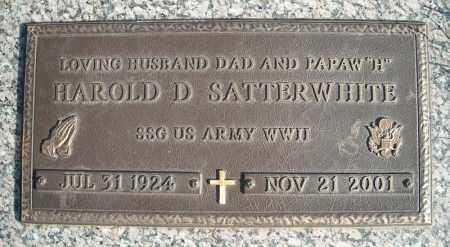 SATTERWHITE (VETERAN WWII), HAROLD A - Faulkner County, Arkansas | HAROLD A SATTERWHITE (VETERAN WWII) - Arkansas Gravestone Photos