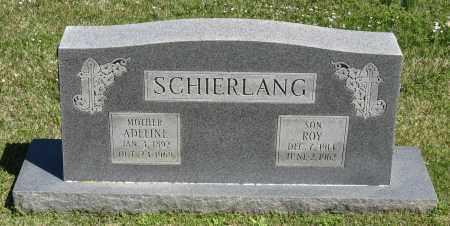 SCHIERLANG, ADELINE - Faulkner County, Arkansas   ADELINE SCHIERLANG - Arkansas Gravestone Photos