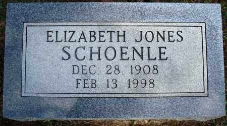 JONES SCHOENLE, ELIZABETH - Faulkner County, Arkansas | ELIZABETH JONES SCHOENLE - Arkansas Gravestone Photos