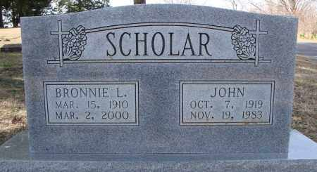 SCHOLAR, BRONNIE L. - Faulkner County, Arkansas | BRONNIE L. SCHOLAR - Arkansas Gravestone Photos