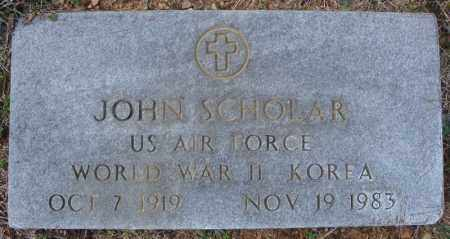SCHOLAR (VETERAN 2 WARS), JOHN - Faulkner County, Arkansas   JOHN SCHOLAR (VETERAN 2 WARS) - Arkansas Gravestone Photos