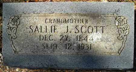 SCOTT, SALLIE J. - Faulkner County, Arkansas | SALLIE J. SCOTT - Arkansas Gravestone Photos