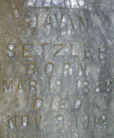 SETZLER, JAVAN  (CLOSEUP) - Faulkner County, Arkansas   JAVAN  (CLOSEUP) SETZLER - Arkansas Gravestone Photos