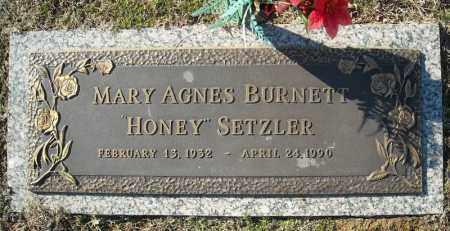 BURNETT SETZLER, MARY AGNES - Faulkner County, Arkansas   MARY AGNES BURNETT SETZLER - Arkansas Gravestone Photos