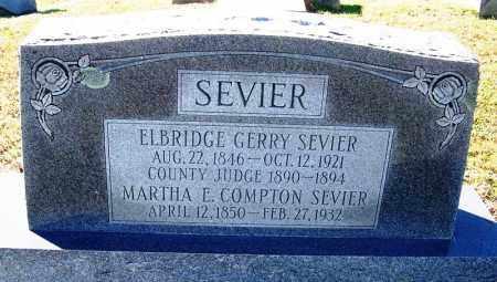 COMPTON SEVIER, MARTHA E. - Faulkner County, Arkansas | MARTHA E. COMPTON SEVIER - Arkansas Gravestone Photos