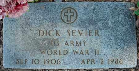 SEVIER (VETERAN WWII), DICK - Faulkner County, Arkansas   DICK SEVIER (VETERAN WWII) - Arkansas Gravestone Photos