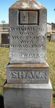 SHAW, WILLIAM G. - Faulkner County, Arkansas   WILLIAM G. SHAW - Arkansas Gravestone Photos