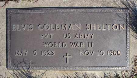 SHELTON (VETERAN WWII), ELVIS COLEMAN - Faulkner County, Arkansas   ELVIS COLEMAN SHELTON (VETERAN WWII) - Arkansas Gravestone Photos
