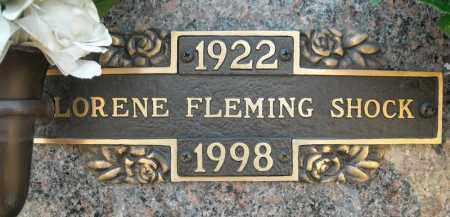 FLEMING SHOCK, LORENE - Faulkner County, Arkansas   LORENE FLEMING SHOCK - Arkansas Gravestone Photos