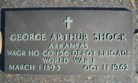 SHOCK (VETERAN WWI), GEORGE ARTHUR - Faulkner County, Arkansas | GEORGE ARTHUR SHOCK (VETERAN WWI) - Arkansas Gravestone Photos