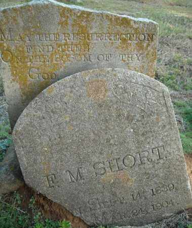 SHORT, F.M. - Faulkner County, Arkansas   F.M. SHORT - Arkansas Gravestone Photos