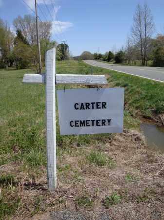 *CARTER CEMETERY SIGN 1,  - Faulkner County, Arkansas |  *CARTER CEMETERY SIGN 1 - Arkansas Gravestone Photos