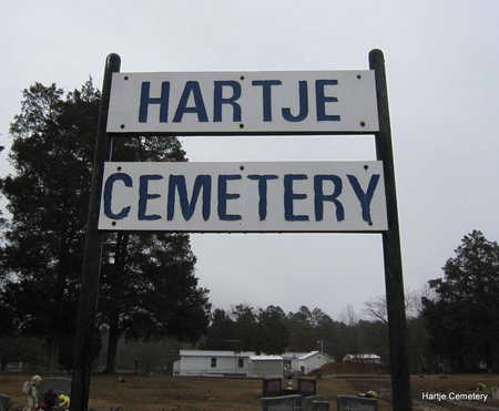 *HARTJE CEMETERY SIGN,  - Faulkner County, Arkansas    *HARTJE CEMETERY SIGN - Arkansas Gravestone Photos