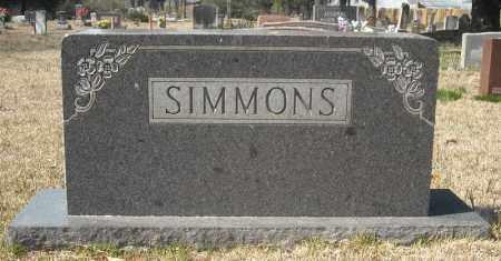 SIMMONS, FAMILY MARKER - Faulkner County, Arkansas   FAMILY MARKER SIMMONS - Arkansas Gravestone Photos