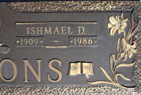 SIMMONS, ISHMAEL D. - Faulkner County, Arkansas   ISHMAEL D. SIMMONS - Arkansas Gravestone Photos