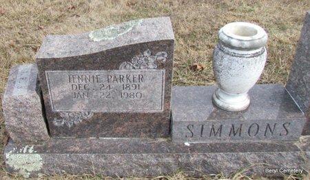 PARKER SIMMONS, JENNIE (CLOSE UP) - Faulkner County, Arkansas | JENNIE (CLOSE UP) PARKER SIMMONS - Arkansas Gravestone Photos