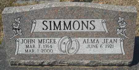 SIMMONS, JOHN MEGEE - Faulkner County, Arkansas | JOHN MEGEE SIMMONS - Arkansas Gravestone Photos