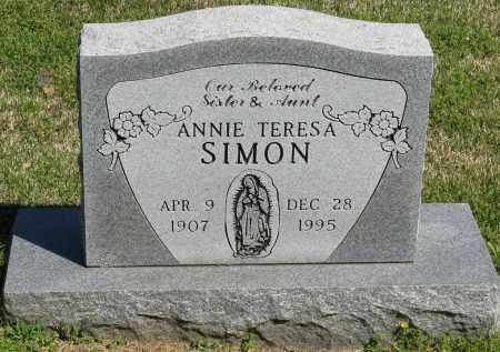SIMON, ANNIE TERESA - Faulkner County, Arkansas | ANNIE TERESA SIMON - Arkansas Gravestone Photos