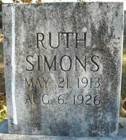 SIMONS, RUTH - Faulkner County, Arkansas | RUTH SIMONS - Arkansas Gravestone Photos