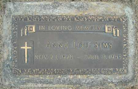 SIMS, ANNA LOU - Faulkner County, Arkansas | ANNA LOU SIMS - Arkansas Gravestone Photos