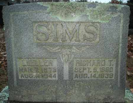 SIMS, RICHARD T. - Faulkner County, Arkansas | RICHARD T. SIMS - Arkansas Gravestone Photos