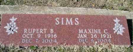 SIMS, MAXINE C. - Faulkner County, Arkansas   MAXINE C. SIMS - Arkansas Gravestone Photos