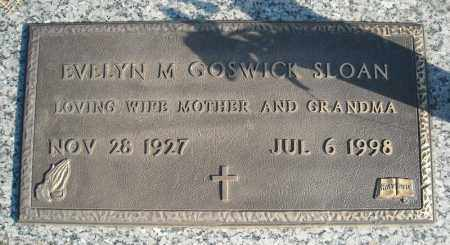 GOSWICK SLOAN, EVELYN M. - Faulkner County, Arkansas   EVELYN M. GOSWICK SLOAN - Arkansas Gravestone Photos