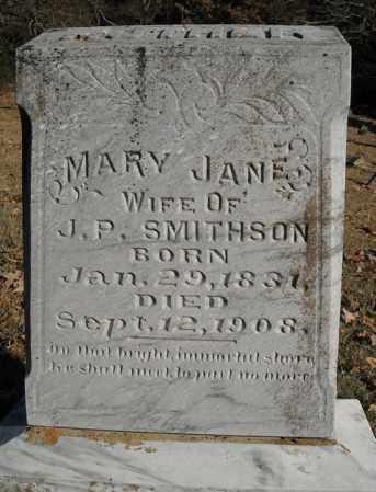 SMITHSON, MARY JANE - Faulkner County, Arkansas | MARY JANE SMITHSON - Arkansas Gravestone Photos