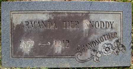 TIER SNODDY, ARMANDA - Faulkner County, Arkansas   ARMANDA TIER SNODDY - Arkansas Gravestone Photos