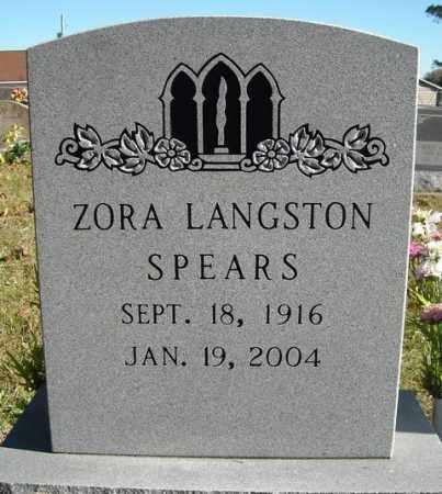 SPEARS, ZORA - Faulkner County, Arkansas | ZORA SPEARS - Arkansas Gravestone Photos