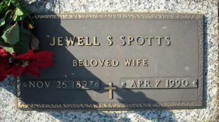 SPOTTS, JEWELL S. - Faulkner County, Arkansas   JEWELL S. SPOTTS - Arkansas Gravestone Photos