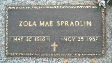 SPRADLIN, ZOLA MAE - Faulkner County, Arkansas | ZOLA MAE SPRADLIN - Arkansas Gravestone Photos