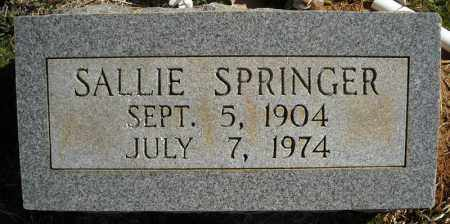 SPRINGER, SALLIE - Faulkner County, Arkansas | SALLIE SPRINGER - Arkansas Gravestone Photos