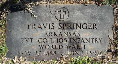 SPRINGER (VETERAN WWI), TRAVIS - Faulkner County, Arkansas | TRAVIS SPRINGER (VETERAN WWI) - Arkansas Gravestone Photos