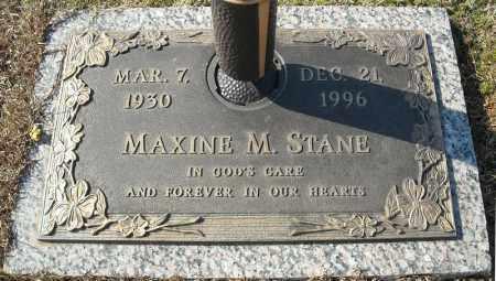 STANE, MAXINE M. - Faulkner County, Arkansas | MAXINE M. STANE - Arkansas Gravestone Photos